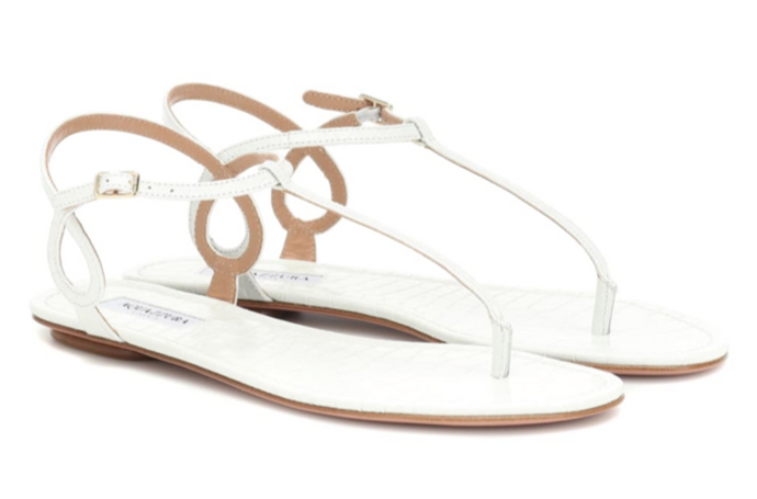 AQUAZZURA Almost Bare leather sandals