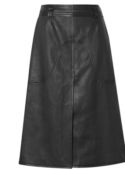COURRÈGES Belted leather skirt