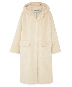 STAND STUDIO Jessica oversized faux shearling coat