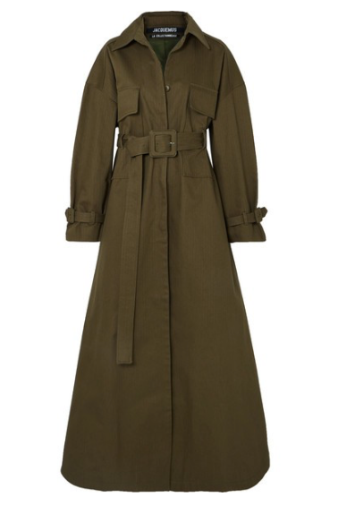 JACQUEMUS Thika cotton-twill trench coat