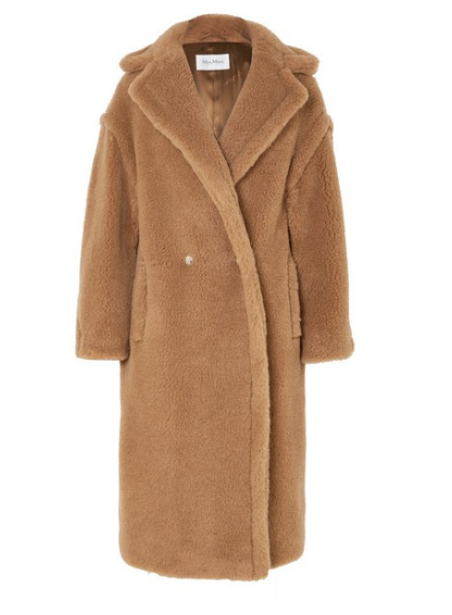 MAX MARA Teddy Icon camel hair and silk-blend coat