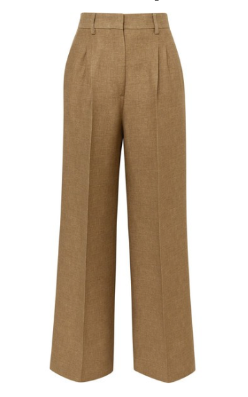 FENDI Satin-trimmed wool and silk-blend piqué wide-leg pants
