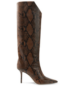 JIMMY CHOO Brelan 85 snake-effect leather knee boots