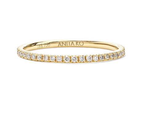 ANITA KO 18-karat gold diamond ring