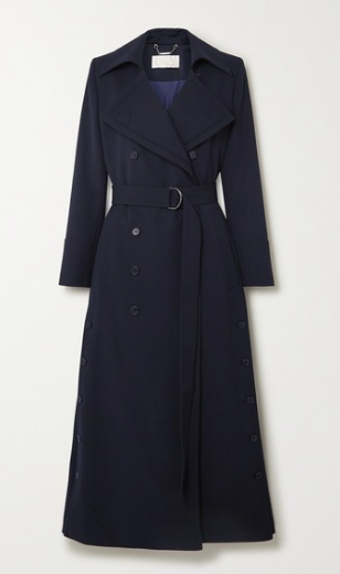 CHLOÉ Belted double-breasted twill coat