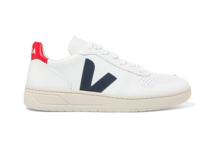 VEJA + NET SUSTAIN V-10 leather sneaker