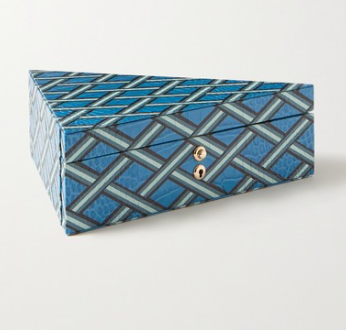 SMYTHSON Mara printed croc-effect leather jewelry box