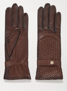 AGNELLE Woven leather glove