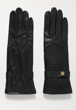 AGNELLE Woven leather gloves