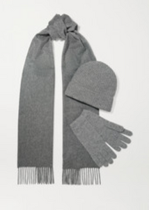 JOHNSTONS OF ELGIN Cashmere beanie, scarf and gloves set