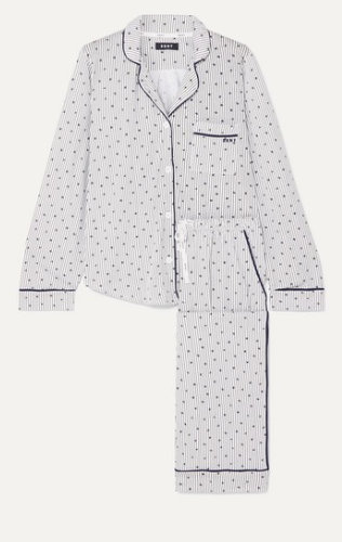 DKNY Signature printed cotton-blend jersey pajama set