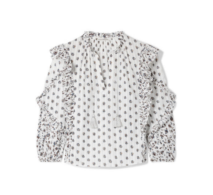 Ulla Johnson - Kati Floral-print Cotton-gauze Blouse - White