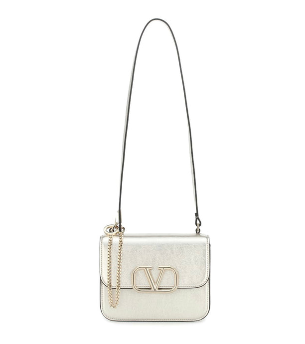 Valentino VSLING Small metallic leather shoulder bag