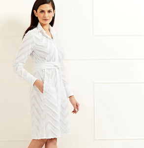 Victoria Shirt Dress White