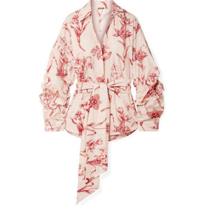 Johanna Ortiz - Rushcutters Bay Printed Cotton-poplin Shirt - Blush