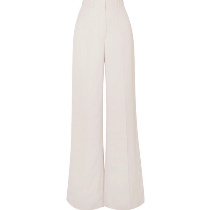 Stella McCartney - Snake-print Wide-leg Crepe Pants - Ivory