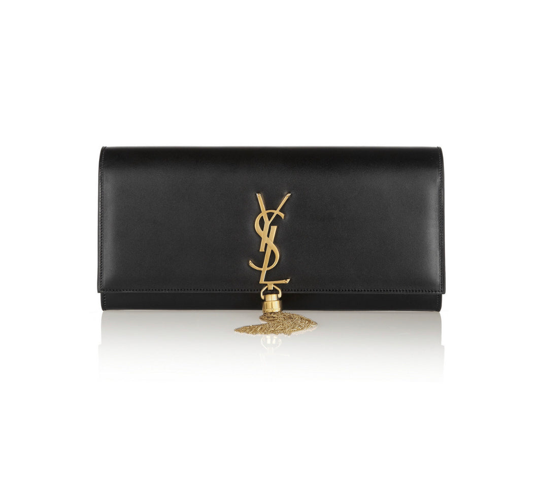 Saint Laurent Monogramme leather clutch, Women's