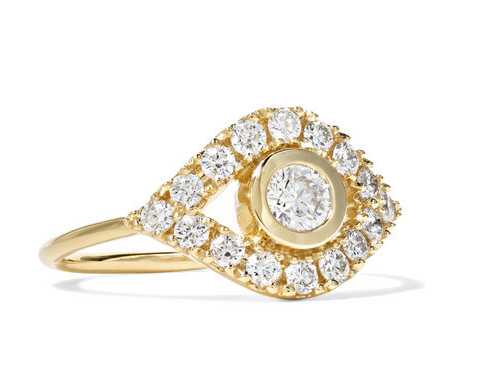Sydney Evan - Evil Eye 14-karat Gold Diamond Ring - 6