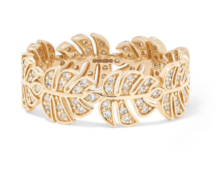 Sydney Evan - Monstera 14-karat Gold Diamond Ring - 6