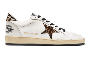 Golden Goose Deluxe Brand - Ball Star Leopard-print Calf Hair And Leather Sneakers - White