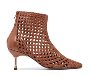 Souliers Martinez - Mahon Woven Leather Ankle Boots - Brown