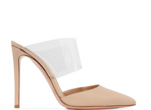 Gianvito Rossi - Virtua 105 Pvc And Leather Mules - Neutral