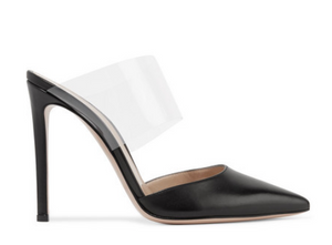 Gianvito Rossi - Virtua 100 Leather And Pvc Mules - Black