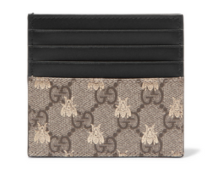 Gucci PRINTED COATED-CANVAS CARDHOLDER