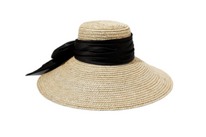 Eugenia Kim MIRABEL SATIN-TRIMMED STRAW HAT