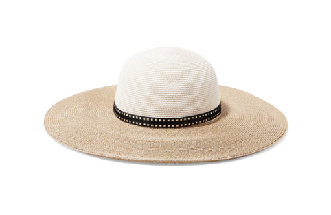 Eugenia Kim HONEY TWO-TONE WOVEN FAUX RAFFIA SUNHAT
