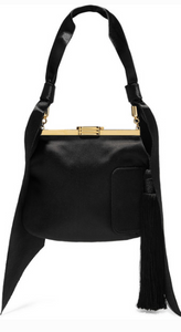 Bienen-Davis 4 AM TASSELED SATIN SHOULDER BAG