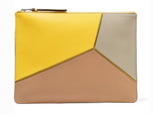 Loewe PUZZLE MEDIUM TEXTURED-LEATHER POUCH