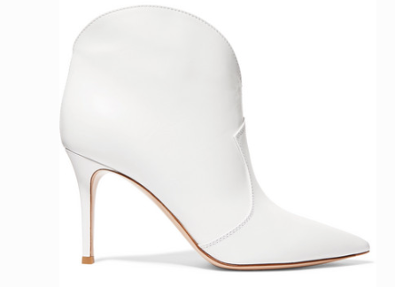 Gianvito Rossi MABLE 85 LEATHER ANKLE BOOTS