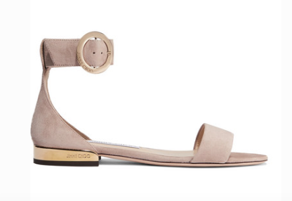 JImmy Choo JAMIE SUEDE SANDALS