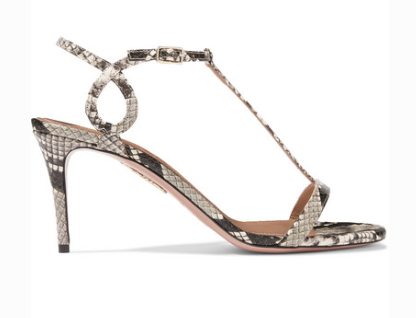 Aquazzura AQUAZZURA ALMOST BARE 75 WATERSNAKE SANDALS