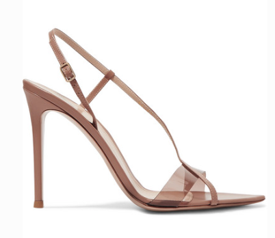 Gianvito Rossi GIANVITO ROSSI 105 LEATHER AND PVC SANDALS