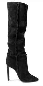 Saint Laurent SAINT LAURENT MICA SUEDE KNEE BOOTS
