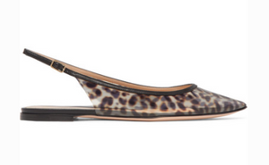 GIANVITO ROSSI PATENT LEATHER-TRIMMED LEOPARD
