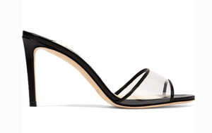 JImmy Choo JIMMY CHOO STACEY 85 LEATHER AND PVC MULES