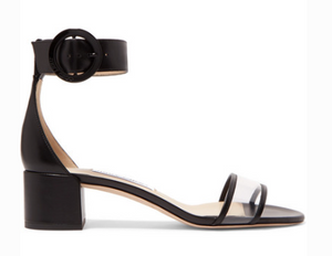 Jimmy Choo JIMMY CHOO JAIMIE 40 LEATHER AND PVC SANDALS