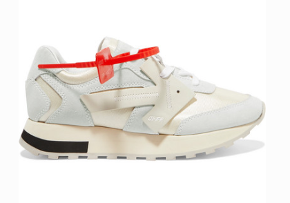 OFF-WHITE HG RUNNER MESH, SUEDE AND LEATHER SNEAKERS