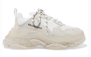 BALENCIAGA TRIPLE S CLEAR SOLE LOGO-EMBROIDERED