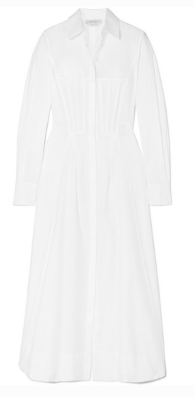 GABRIELA HEARST EUGENE COTTON-PIQUÉ MIDI DRESS
