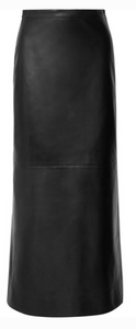 VALENTINO LEATHER MIDI SKIRT