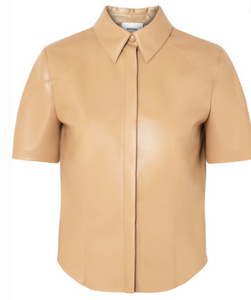 NANUSHKA CLARE VEGAN FAUX LEATHER SHIRT