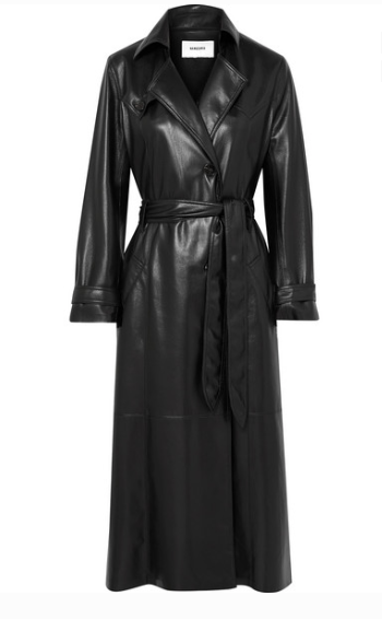 NANUSHKA CHIARA VEGAN FAUX LEATHER TRENCH COAT