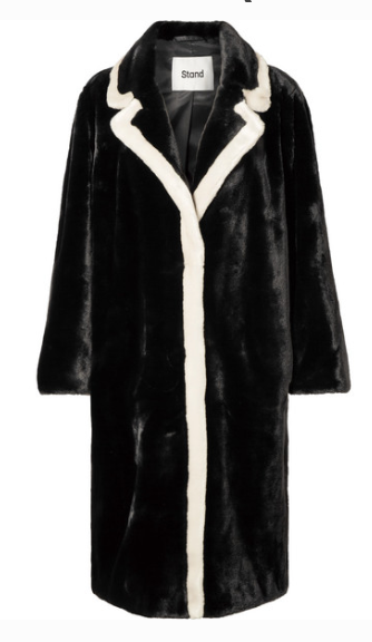 STAND MARIANNE TWO-TONE FAUX FUR COAT