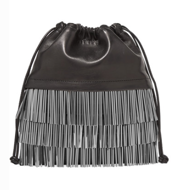 ALEXANDER WANG RYAN MINI FRINGED LEATHER BUCKET BAG