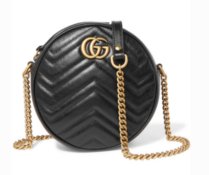 GUCCI GG MARMONT CIRCLE QUILTED LEATHER SHOULDER