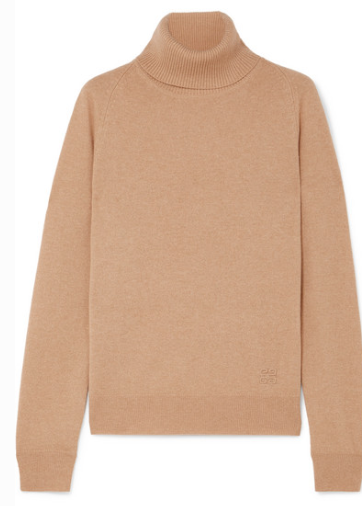 GIVENCHY EMBROIDERED CASHMERE TURTLENECK